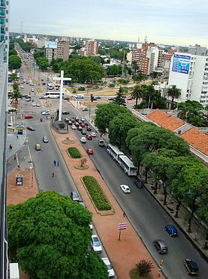 Artigas Boulevard - General Artigas Boulevard, view from Tres Cruces northwards.