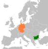 Lage von Deutschland und Bulgarien