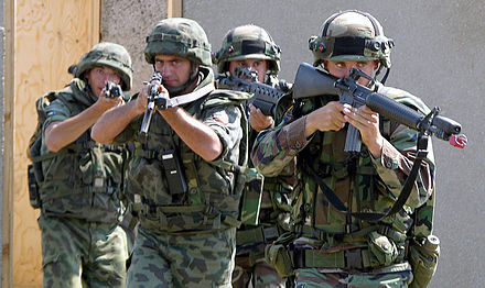 Bulgarian soldiers wearing bulgarian splittertarnmuster