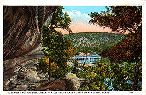 Bull Creek (Texas) - Bull Creek as depicted on a historical postcard (1916)