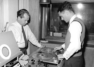 Radio documentary - Recording studio in Germany (WDR, 1954)