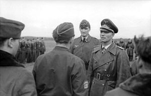 Joseph Schmid - Image: Bundesarchiv Bild 101I 533 0001 17, Reichsgebiet, Inspektion von Luftwaffensoldaten