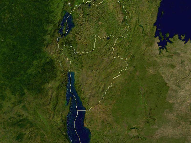 Satellitenaufnahme Burundi