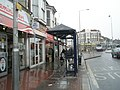Bus shelter outside the tattooists in London Road - geograph.org.uk - 770490.jpg
