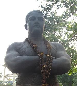 Jatindra Charan Guho - Bust of Gobar Goho in Azad Hind Bagh