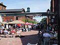 Busy festival at the Gooderham & Worts Distillery District, Toronto.jpg