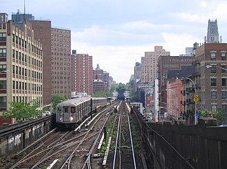 125th Street (IRT Broadway–Seventh Avenue Line) - Image: Bwy Walk 0505 Station 125th Broadway 2