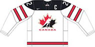 Canada men's national ice hockey team - Image: CANADA HOME JERSEY 2017