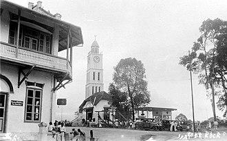 Jam Gadang - The original clock tower before shape alteration.