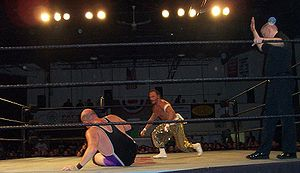 C.W. Anderson - C.W. Anderson (left) wrestling Sabu in October 2007