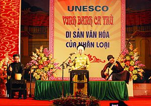 Music of Vietnam - Performance of Ca trù, an ancient genre of chamber music from northern Vietnam, inscribed by UNESCO as an Intangible Cultural Heritage in 2009