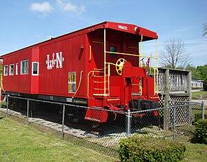 Stanford L&N Railroad Depot - Caboose on display at Stanford Railroad Depot