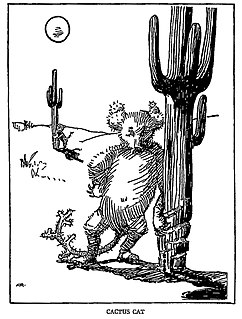 Cactus cat Mythical creature from American folklore
