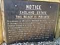 Cadland Estate Sign - geograph.org.uk - 1740416.jpg
