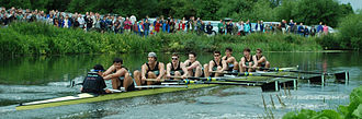 May Bumps - Caius M1 rowing over to claim the men's Headship in 2011.