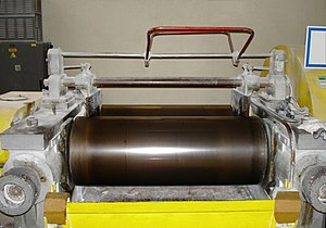 Calender - Calender machine using bales of rubber