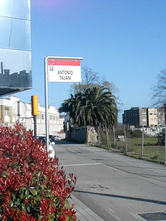 Antonio Tajani - Antonio Tajani Street, in Gijón, Spain.