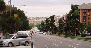 Las Acacias (Madrid) - View of the Calle de Toledo