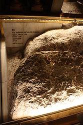 Calvary stone, Holy Sepulchre 2010 2.jpg