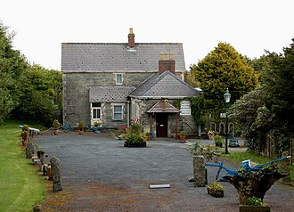 North Cornwall Railway - The former station building at Camelford station is now a private residence and former cycle museum