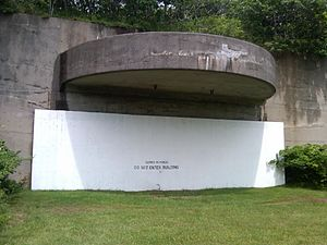 Montauk Air Force Station - One of the 16-inch gun casemates at Camp Hero.