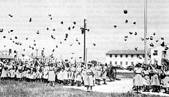 Camp Atterbury - Mass-enlistment ceremony of WACs on August 10, 1943, at Camp Atterbury, Indiana
