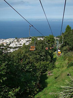 English: Capri, Campania, Italy. View from the...