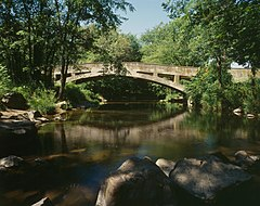 Campbell's Bridge, Spanning Unami Creek at Allentown Road (State Rout, Milford Square vicinity (Bucks County, Pennsylvania).jpg