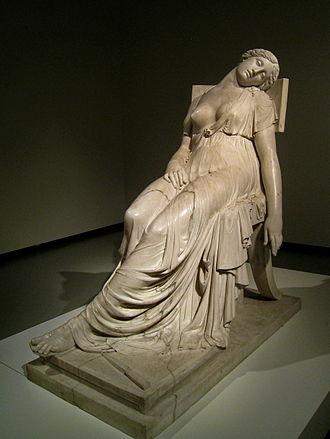 Lucretia - Dead Lucrecia (1804), by Spanish sculptor Damià Campeny. Barcelona: Llotja de Mar.