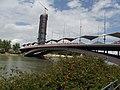 Canal de Alfonso XIII - Seville - Puente del Cristo de la Expiración & Torre Pelli (14503177100).jpg