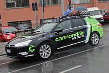 L'ammiraglia Cannondale alla Milano-Sanremo 2013