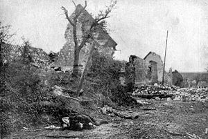 Western Front (World War I) - Ruins of Carency after it was recaptured by France