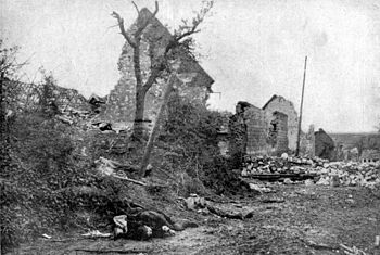 Aftermath of the fighting in the French town o...