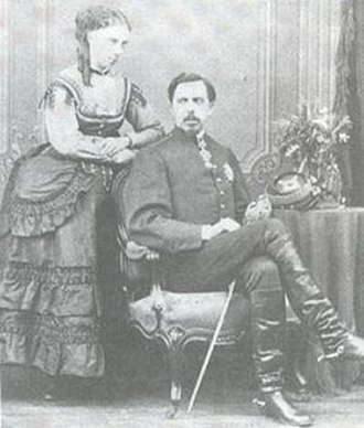 Jaime, Duke of Madrid - parents: Don Carlos and Doña Margarita, late 1860s