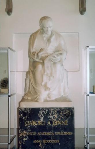 Johan Niclas Byström - Image: Carolina Rediviva Linnaeus statue