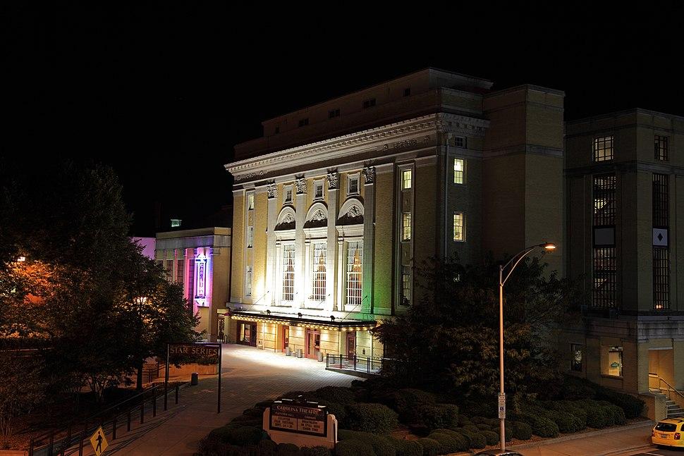 Carolina Theatre at night