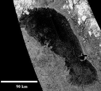 Ontario Lacus - Image: Cassini Ontario Lacus RADAR