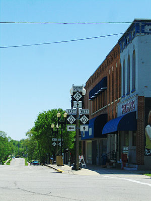 M-60 (Michigan highway) - The intersection of M-60 and M-62 in Cassopolis