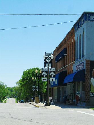 Cassopolis, Michigan - Directional signs in Cassopolis, Michigan.
