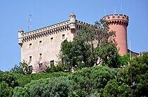 Castell de Fels, Església de Santa Maria i Torre de guaita (Castelldefels) - 1.jpg