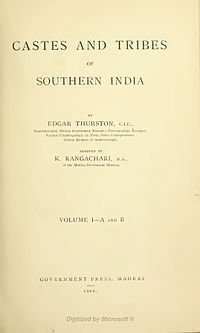 Castes and Tribes of Southern India cover