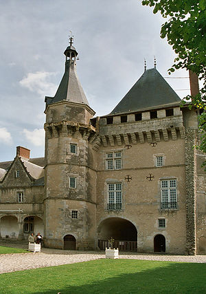 Château de Talcy - View of the court.