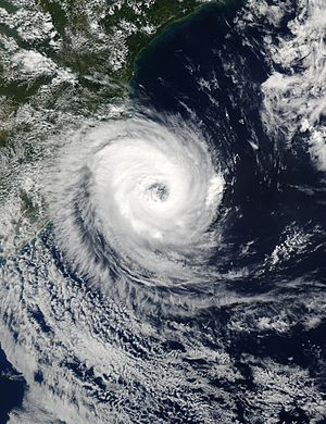 Hurricane Catarina - Hurricane Catarina approaching Brazil on March 27