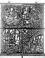 Cathédrale - Vitrail, déambulatoire au nord, saint Julien l'Hospitalier, cinquième panneau, en haut - Rouen - Médiathèque de l'architecture et du patrimoine - APMH00031351.jpg