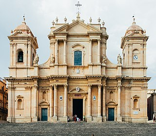 Noto Cathedral Church in Sicily, Italy