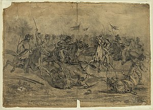 Cavalry charge near Brandy Station