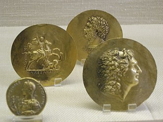 Ancient Macedonians - Macedonian coinage and medallions depicting Alexander the Great and Philip II