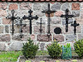 Cemetery in the courtyard of Basilica of the Nativity of St. Mary and St. Nicholas in Bielsk - 02.jpg