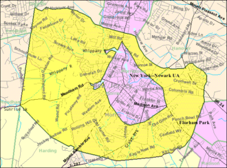 Morris Township, New Jersey - Image: Census Bureau map of Morris Township, New Jersey
