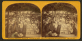 Centennial celebration, Buxton, Maine. Clearing the tables, com. of arrangement and ladies at work, Aug. 14, 1872, by Towle, S. (Simon).png
